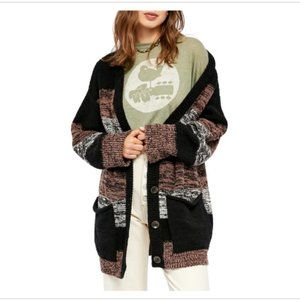 Free People Southport Oversized Beach Cardigan S *